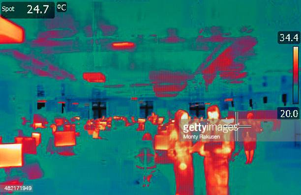Infrared heat image of office