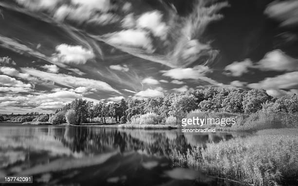 Infrared Lake In English Countryside