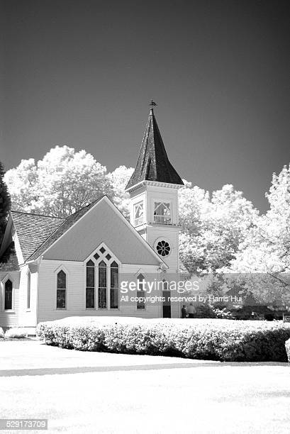 infrared minoru chapel - richmond british columbia stock photos and pictures