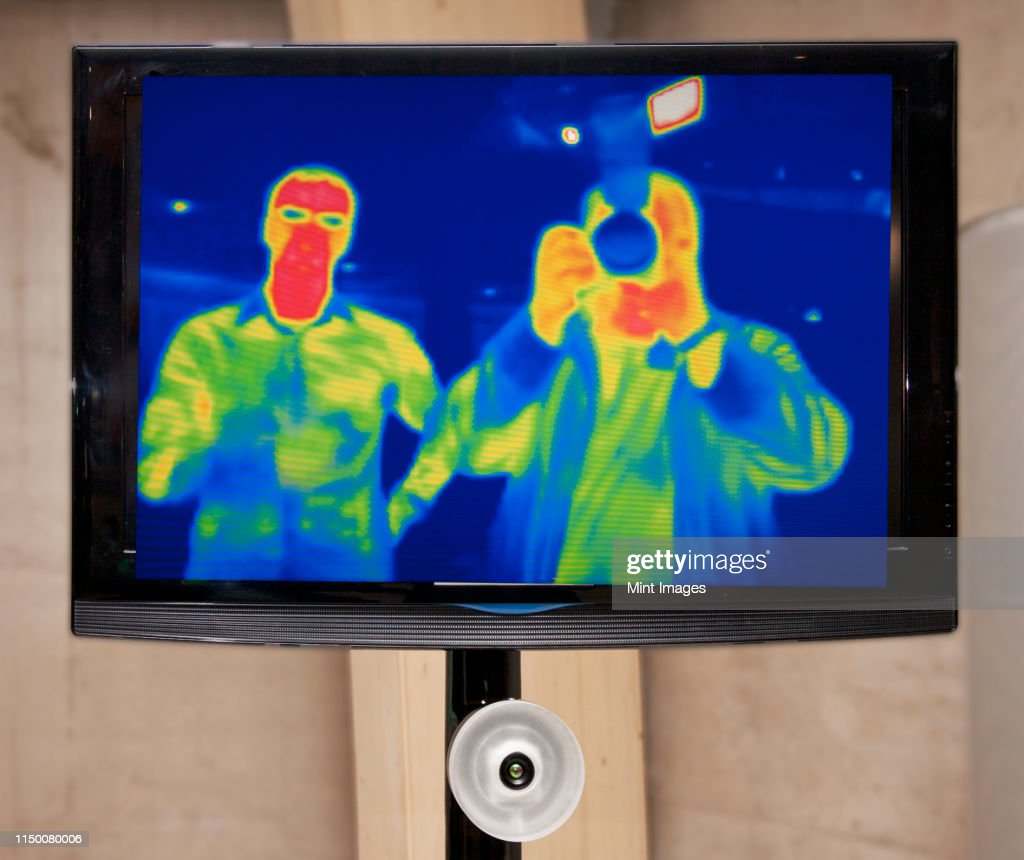 Infrared Television Display : Stock Photo