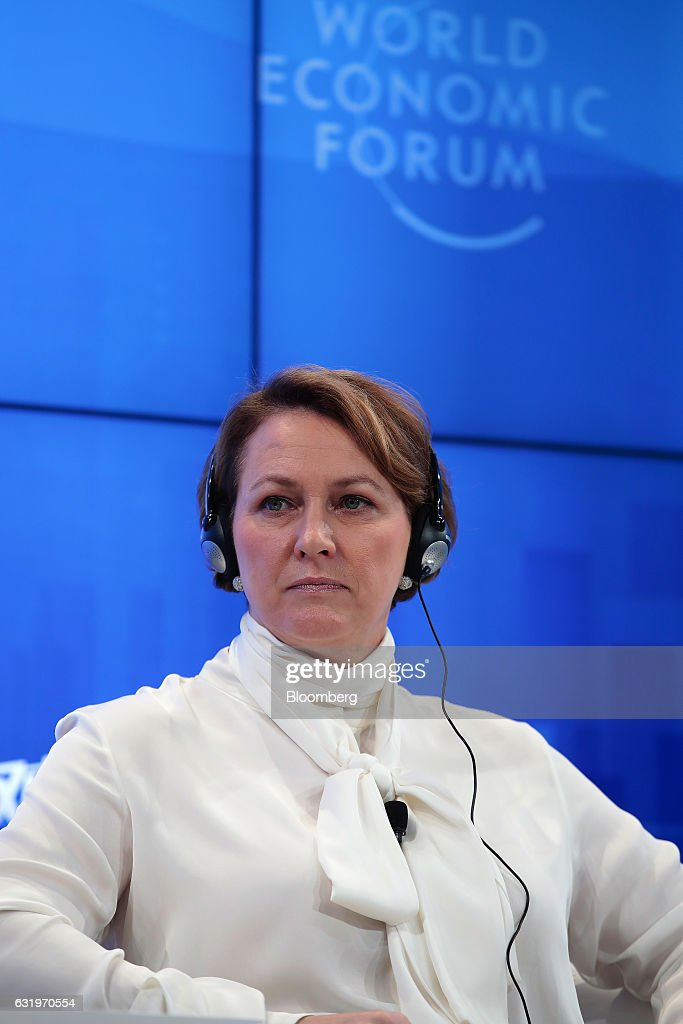 Inga Beale, chief executive officer of Lloyds of London, looks on during a panel session at the World Economic Forum (WEF) in Davos, Switzerland, on Wednesday, Jan. 18, 2017. World leaders, influential executives, bankers and policy makers attend the 47th annual meeting of the World Economic Forum in Davos from Jan. 17 - 20. Photographer: Jason Alden/Bloomberg via Getty Images