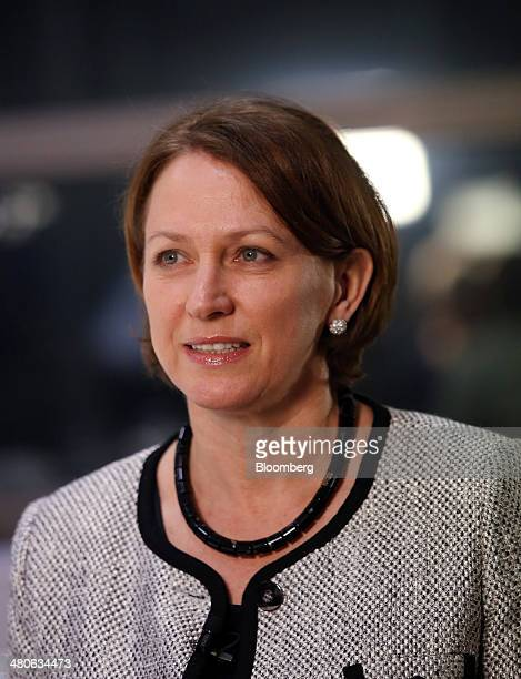 Inga Beale chief executive officer of Lloyd's of London Ltd pauses during a television interview in London UK on Tuesday March 25 2014 Lloyd's of...