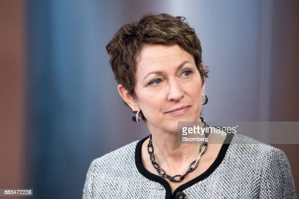Inga Beale chief executive officer of Lloyd's of London pauses during a Bloomberg Television interview in London UK on Friday Dec 1 2017 The global...