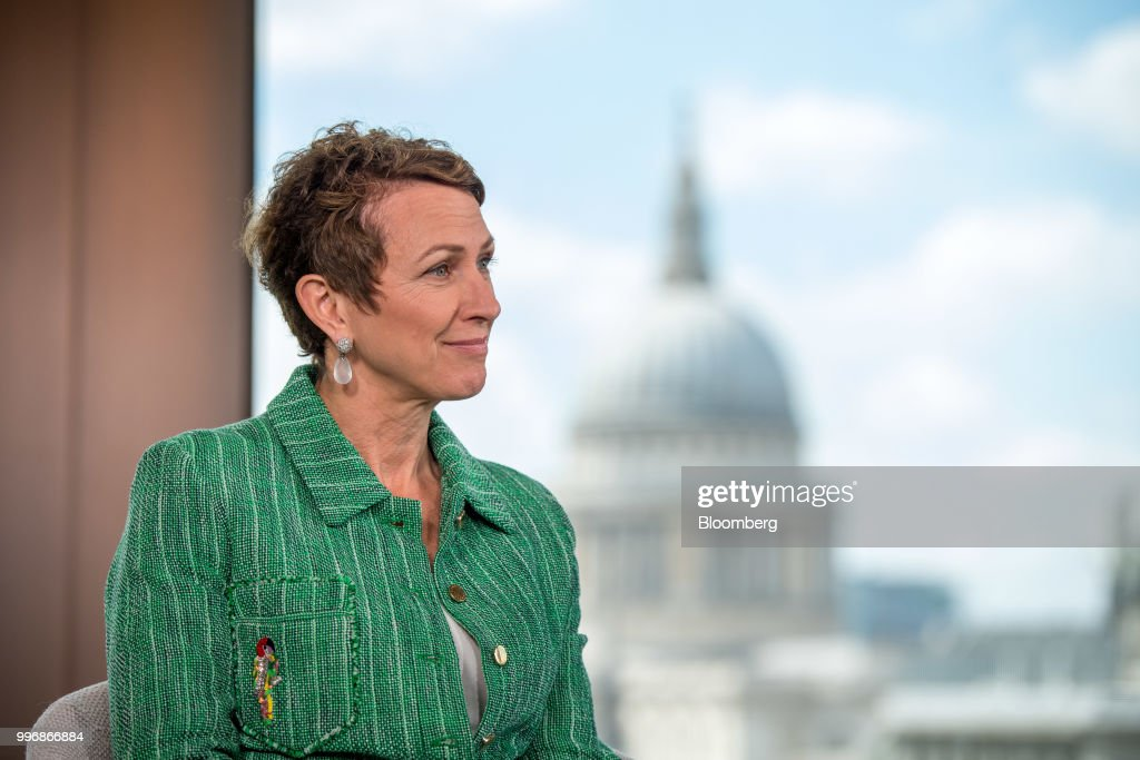 Inga Beale, chief executive officer of Lloyds of London, pauses during a Bloomberg Television interview in London, U.K., on Wednesday, July 11, 2018.Bealesaid she wants to seek a leadership role in at least one more company after leaving the insurance market next year. Photographer: Chris J. Ratcliffe/Bloomberg via Getty Images