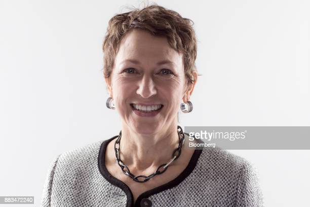 Inga Beale chief executive officer of Lloyd's of London poses for a photograph a following Bloomberg Television interview in London UK on Friday Dec...