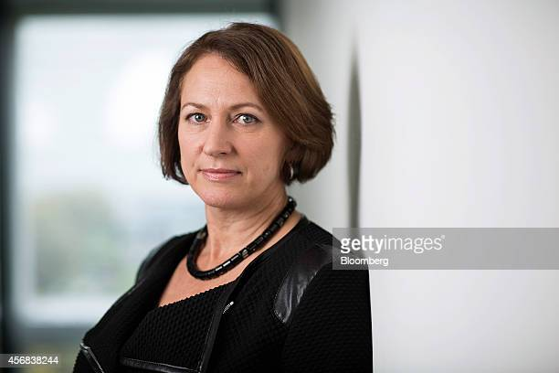 Inga Beale, chief executive officer of Lloyds of London, poses for a photograph following a Bloomberg Television interview in London, U.K., on...