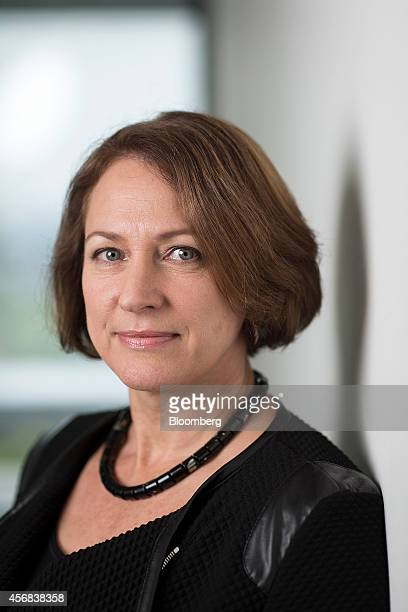 Inga Beale chief executive officer of Lloyds of London poses for a photograph following a Bloomberg Television interview in London UK on Wednesday...