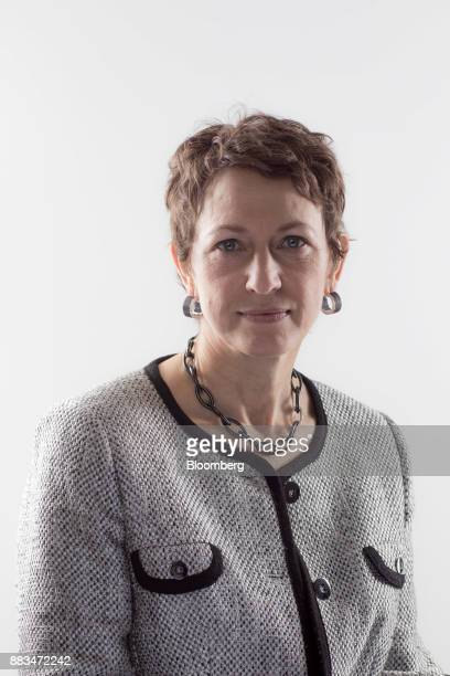 Inga Beale chief executive officer of Lloyd's of London poses for a photograph following a Bloomberg Television interview in London UK on Friday Dec...