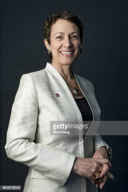Inga Beale chief executive officer of Lloyd's of London poses for a photograph following a Bloomberg Television interview on the sidelines of the...
