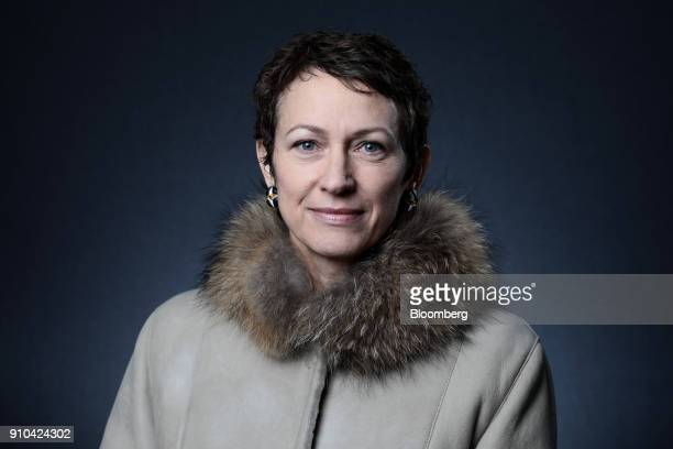 Inga Beale chief executive officer of Lloyd's of London poses for a photograph following a Bloomberg Television interview on the closing day of the...