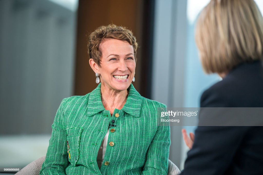 Inga Beale, chief executive officer of Lloyds of London, reacts during a Bloomberg Television interview in London, U.K., on Wednesday, July 11, 2018.Bealesaid she wants to seek a leadership role in at least one more company after leaving the insurance market next year. Photographer: Chris J. Ratcliffe/Bloomberg via Getty Images