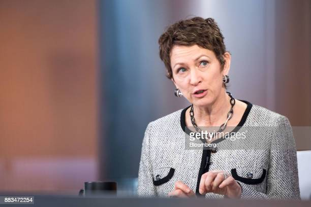 Inga Beale chief executive officer of Lloyd's of London speaks during a Bloomberg Television interview in London UK on Friday Dec 1 2017 The global...