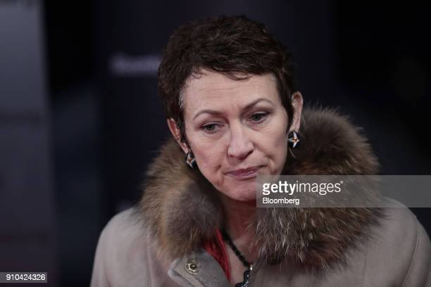 Inga Beale chief executive officer of Lloyd's of London speaks during a Bloomberg panel session during a Bloomberg Television interview on the...