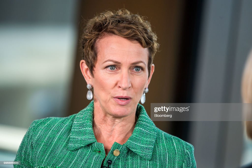 Inga Beale, chief executive officer of Lloyds of London, speaks during a Bloomberg Television interview in London, U.K., on Wednesday, July 11, 2018.Bealesaid she wants to seek a leadership role in at least one more company after leaving the insurance market next year. Photographer: Chris J. Ratcliffe/Bloomberg via Getty Images