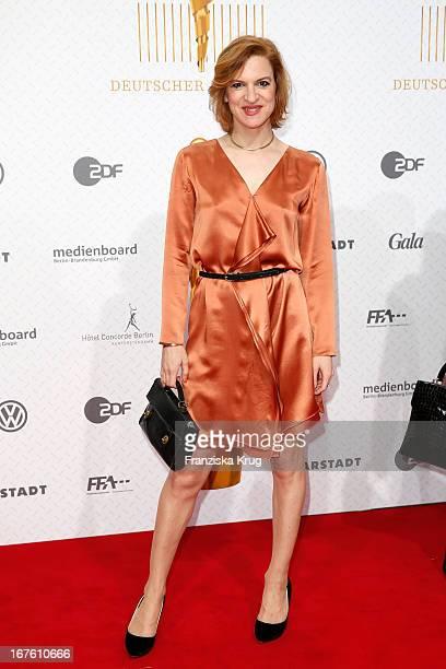 Inga Busch attends the Lola German Film Award 2013 at Friedrichstadt-Palast on April 26, 2013 in Berlin, Germany.