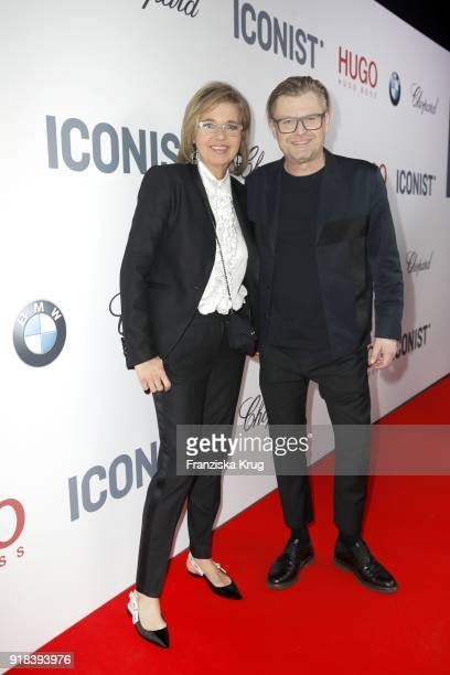 BERLIN GERMANY FEBRUARY Inga Griese and Peter Deirowski during the Young ICONs Award in cooperation with ICONIST at SpindlerKlatt on February 14 2018...