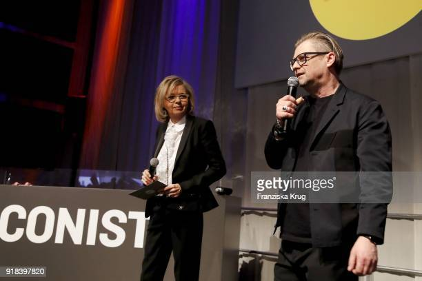 Inga Griese and Peter Deirowski during the Young ICONs Award in cooperation with ICONIST at SpindlerKlatt on February 14 2018 in Berlin Germany