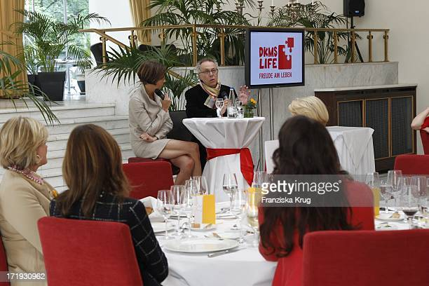 Inga Griese Schwenkow Und Dieter Kosslick Beim Dkms Ladies Lunch In Berlin