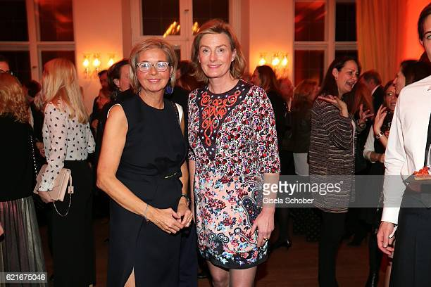 Inga GrieseSchwenkow and Carola Curio during the birthday party for the 10th anniversary of ICON at Nymphenburg Palais No 6 on November 7 2016 in...