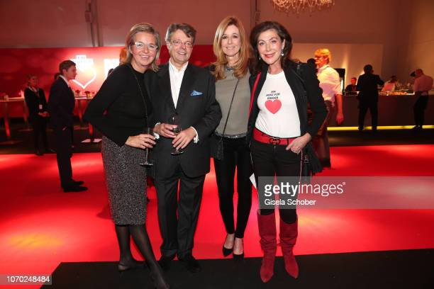 Inga GrieseSchwenkow and her husband Peter Schwenkow Andrea Schoeller Alexandra von Rehlingen during the Ein Herz Fuer Kinder Gala at Studio Berlin...