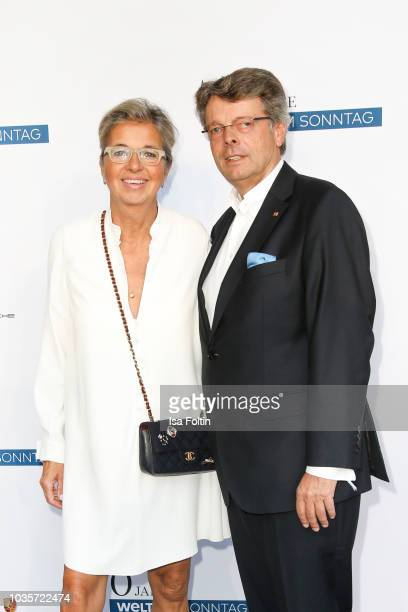 Inga GrieseSchwenkow and her husband Peter Schwenkow during the 70th anniversary celebration of the German Sunday newspaper WELT AM SONNTAG at The...