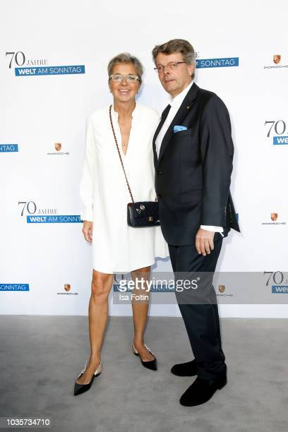 Inga Griese-Schwenkow and her husband Peter Schwenkow during the 70th anniversary celebration of the German Sunday newspaper WELT AM SONNTAG at The...