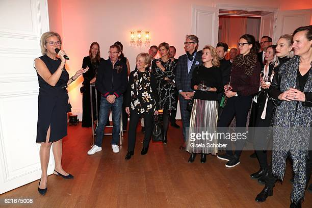Inga GrieseSchwenkow during the birthday party for the 10th anniversary of ICON at Nymphenburg Palais No 6 on November 7 2016 in Munich Germany
