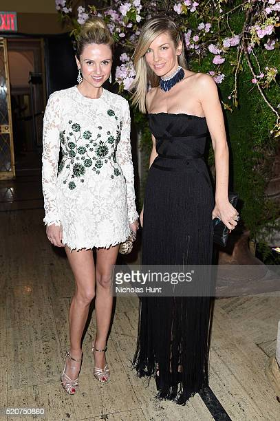Inga Kozel and Svetlana Brista attend the Foundation Fighting Blindness World Gala at Cipriani 42nd Street on April 12 2016 in New York City