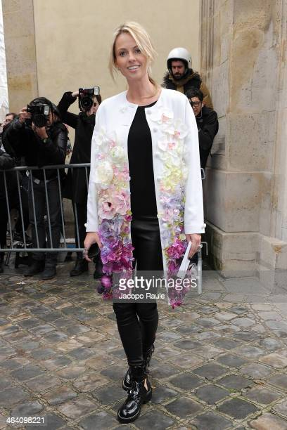 Inga Kozel attends the Christian Dior show as part of Paris Fashion Week Haute Couture Spring/Summer 2014> on January 20 2014 in Paris France