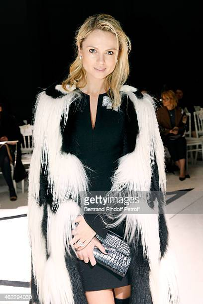 Inga Kozel attends the Giambattista Valli show as part of Paris Fashion Week Haute Couture Spring/Summer 2015 on January 26 2015 in Paris France