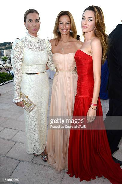 Inga Rubenstein and Carolina Parsons attend cocktail at 'Love Ball' hosted by Natalia Vodianova in support of The Naked Heart Foundation at Opera...