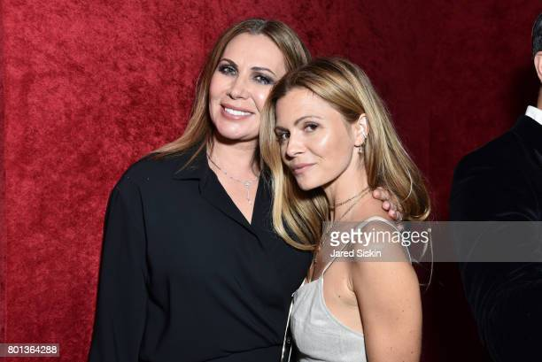 Inga Rubenstein and Elizabeth Sulcer attend The Dom Perignon Vintage Trinity Launch Party at 17 Irving Place on June 22 2017 in New York City