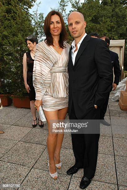 Inga Rubenstein and Keith Rubenstein attend R I Group Hosts A Private Cocktail Party For Barney/Bueys at The Peggy Guggenheim Collection on June 5...