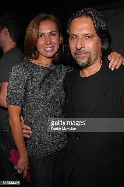 Inga Rubenstein and Sante D'Orazio attend GIANNI AND DONATELLA by SANTE D'ORAZIO cocktail at Gramercy Park Hotel Rooftop NYC on September 8 2007
