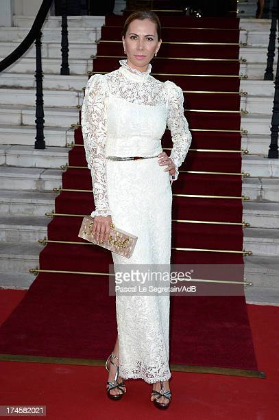 Inga Rubenstein arrives at 'Love Ball' hosted by Natalia Vodianova in support of The Naked Heart Foundation at Opera Garnier on July 27 2013 in...