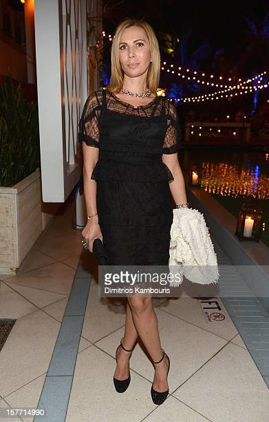 Inga Rubenstein attends a dinner and auction hosted by CHANEL to benefit the Henry Street Settlement at Soho Beach House on December 5 2012 in Miami...