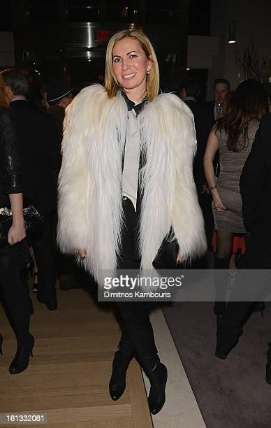 Inga Rubenstein attends Bulgari Celebrates Icons Of Style The Serpenti during Fall 2013 Fashion Week at Bulgari Fifth Avenue on February 9 2013 in...