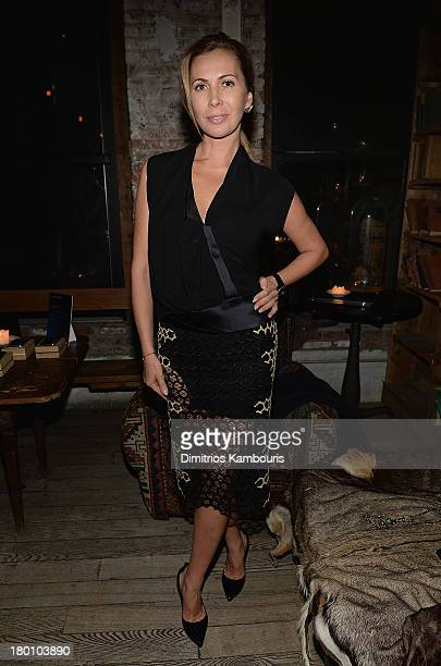 Inga Rubenstein attends Modelinia Fashion Week Dinner at Freemans on September 8 2013 in New York City