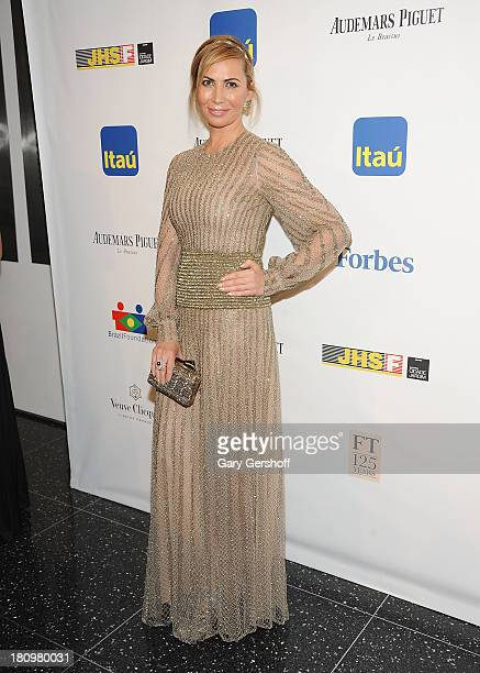 Inga Rubenstein attends the 11th BrazilFoundation NYC Gala at Museum of Modern Art on September 18 2013 in New York City