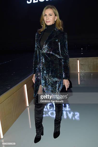 Inga Rubenstein attends the 2015 Victoria's Secret Fashion Show at Lexington Avenue Armory on November 10 2015 in New York City