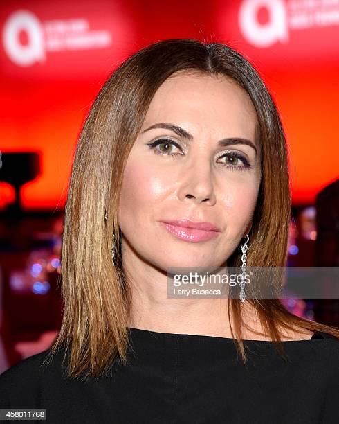 Inga Rubenstein attends the Elton John AIDS Foundation's 13th Annual An Enduring Vision Benefit at Cipriani Wall Street on October 28 2014 in New...