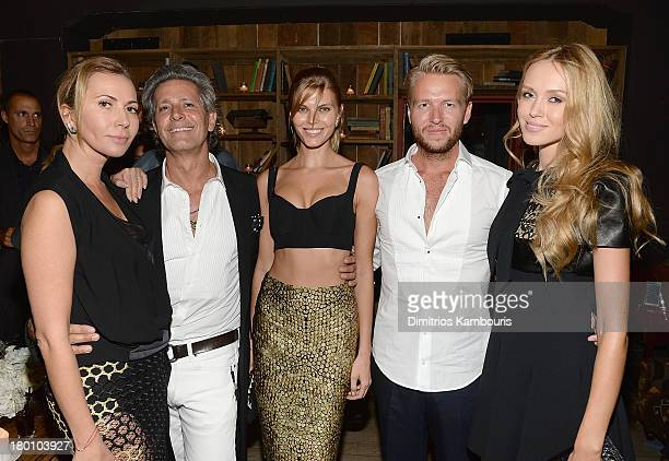 Inga Rubenstein Carlos Souza Maryna Linchuk Michael Lillelund and Kseniya Sukhinova attend Modelinia Fashion Week Dinner at Freemans on September 8...