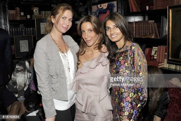 Inga Rubenstein Dori Cooperman and Anisha Sabnani attend The Lion Dinner Hosted by Charlie Kim Dori Cooperman Ulla Parker MasterCard Meatpacking VIP...