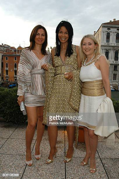 Inga Rubenstein Kim HearstonEvans and Janna Bullock attend R I Group Hosts A Private Cocktail Party For Barney/Bueys at The Peggy Guggenheim...
