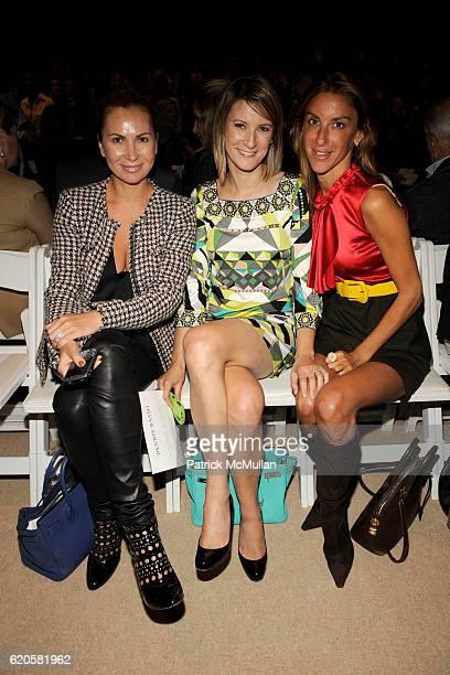 Inga Rubenstein Lizzie Tisch and Dori Cooperman attend DENNIS BASSO Spring/Summer 2009 Fashion Show at The TentsPromenade on September 9 2008 in New...