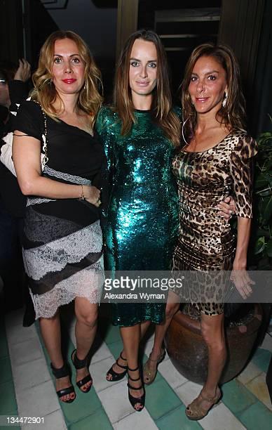 Inga Rubenstein Masha Markova and Dori Cooperman attend the Phillips De Pury dinner and dancing hosted by Simon de Pury at Cecconi's Soho Beach House...