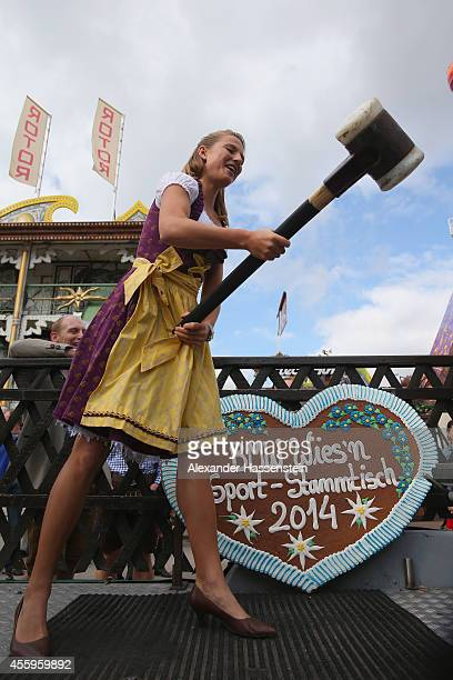 Ingalena Heuck attends at the 'Hau den Lukas' the 'BMW Wiesn SportStammtisch' of the 2014 Oktoberfest at Theresienhoehe on September 23 2014 in...
