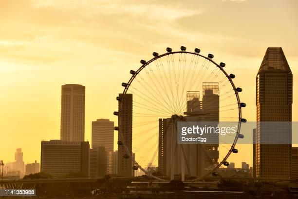 ingapore Flyer Ferris Wheel landmark of Singapore