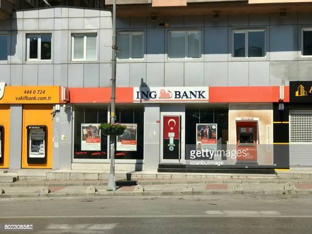 IngBank Bahçelievler branch in Istanbul.It is one of the state banks of Turkey.