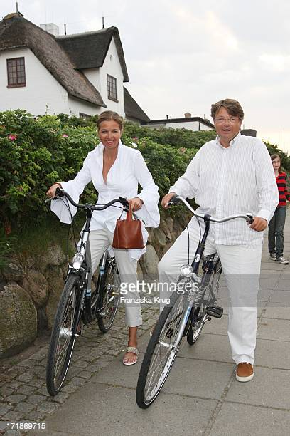 Inge GrieseSchwenkow And Peter Schwenkow at the Island Island Party Meets in Kampen In Local Pony On The Island of Sylt